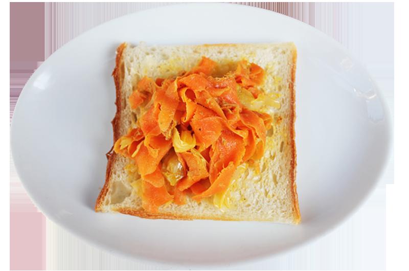 人参しりしり(沖縄家庭料理)サンドイッチ